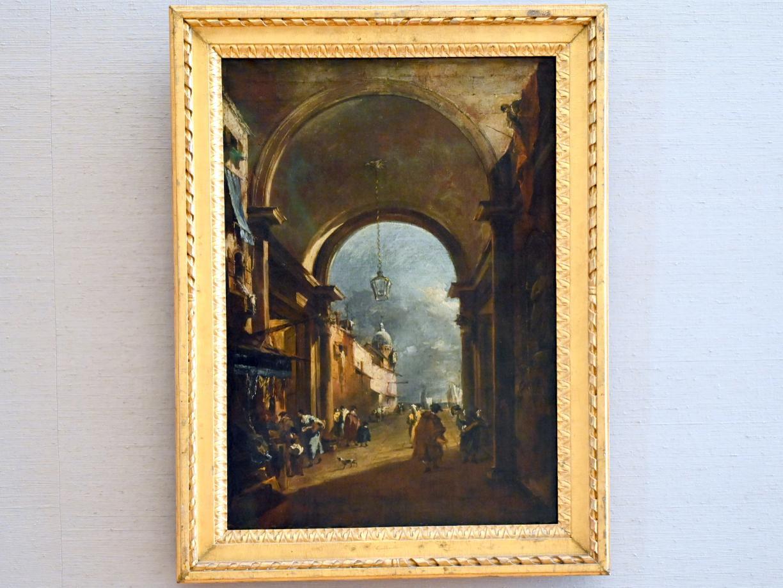 Francesco Guardi: Tordurchblick, Um 1750 - 1785