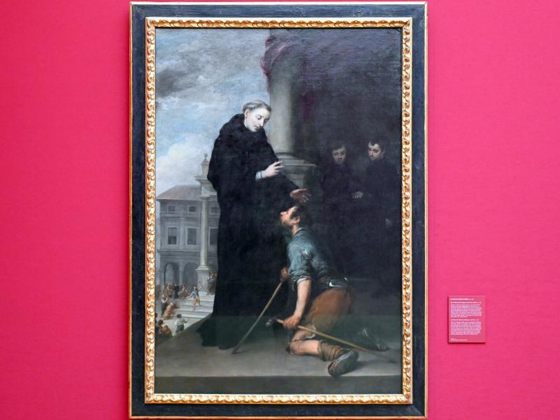 Bartolomé Esteban Murillo: Der hl. Thomas von Villanueva heilt einen Lahmen, Um 1675