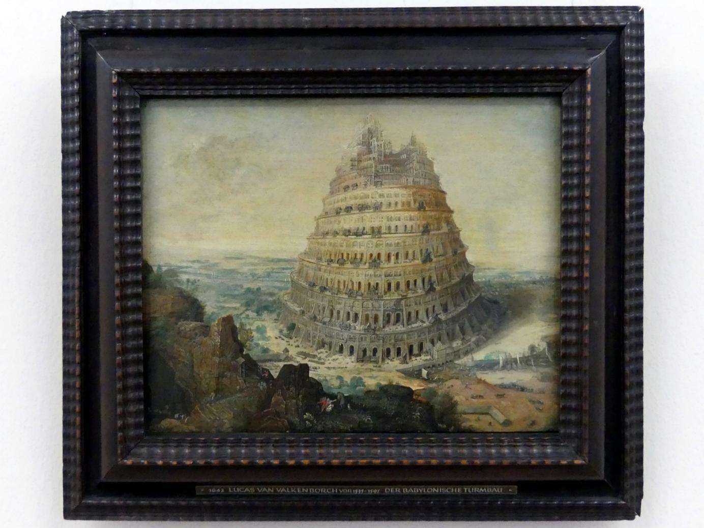 Lucas van Valckenborch: Der babylonische Turmbau, 1556