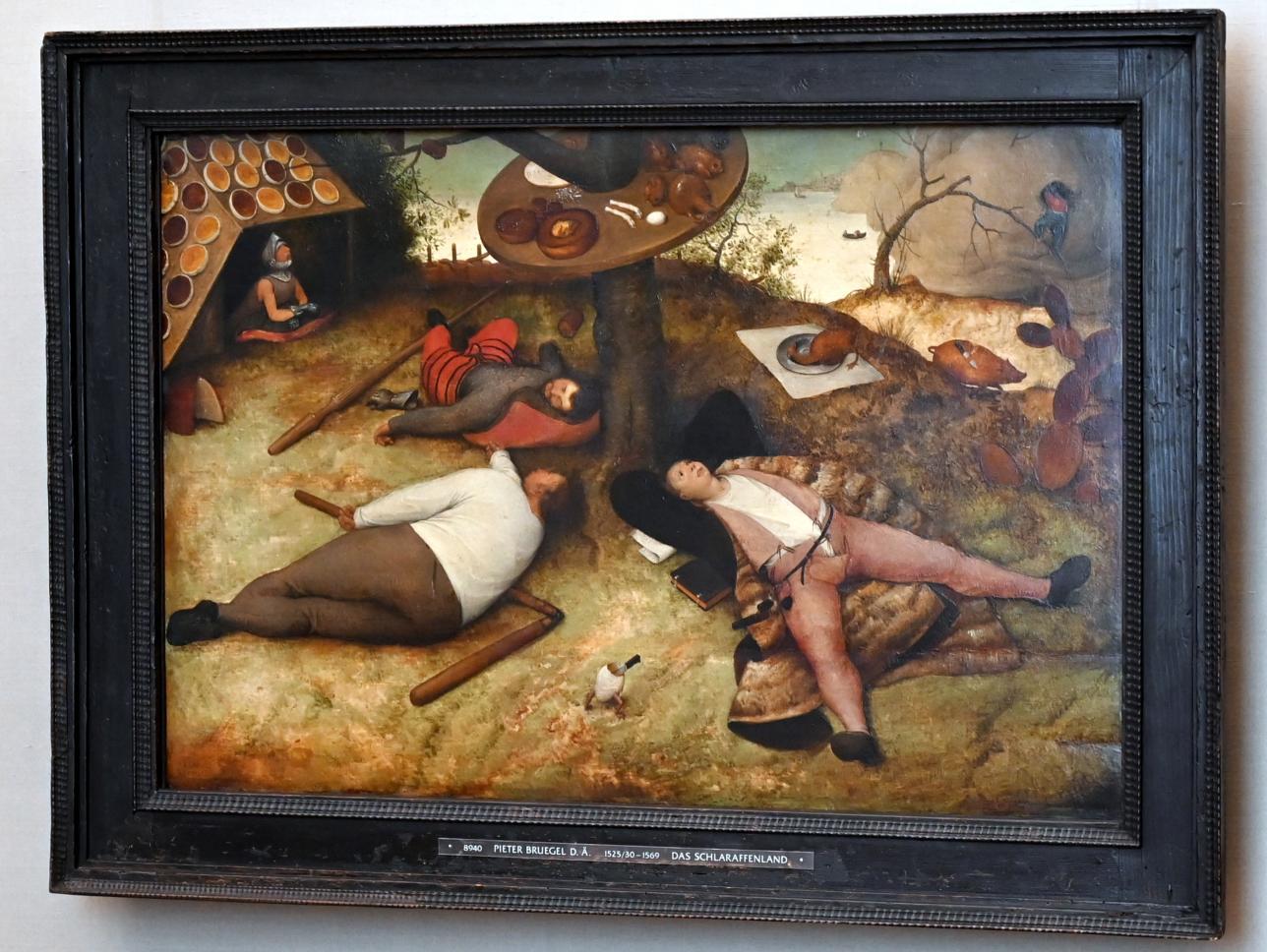 Pieter Brueghel der Ältere (Bauernbrueghel): Das Schlaraffenland, 1567, Bild 1/2