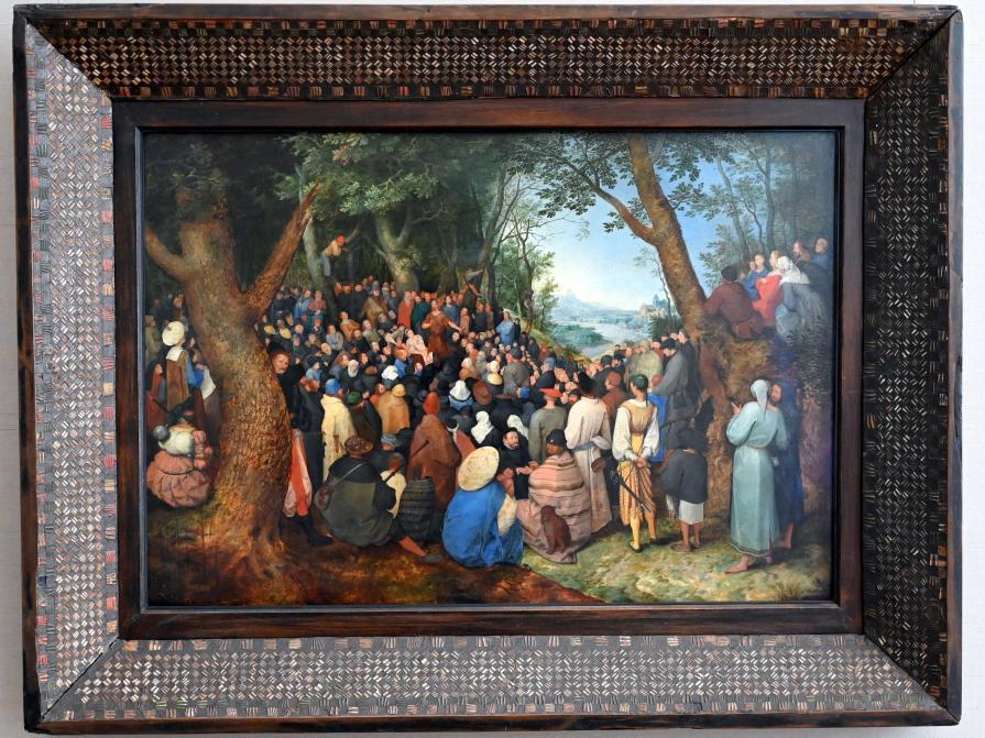 Jan Brueghel der Ältere (Blumenbrueghel): Predigt des Hl. Johannes des Täufers, 1598