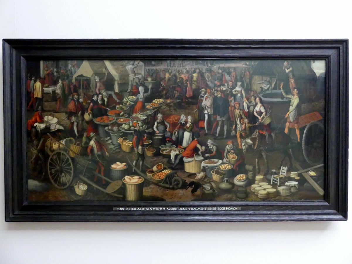 Pieter Aertsen: Marktszene - Fragment eines Ecce Homo, um 1550