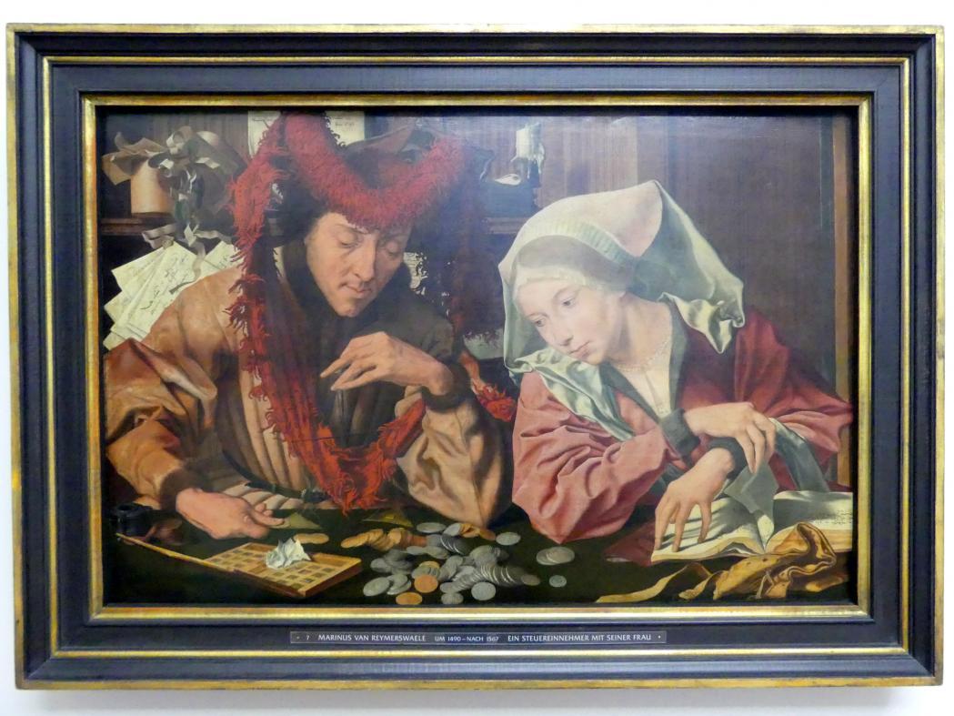 Marinus van Reymerswaele: Ein Steuereinnehmer mit seiner Frau, 1538