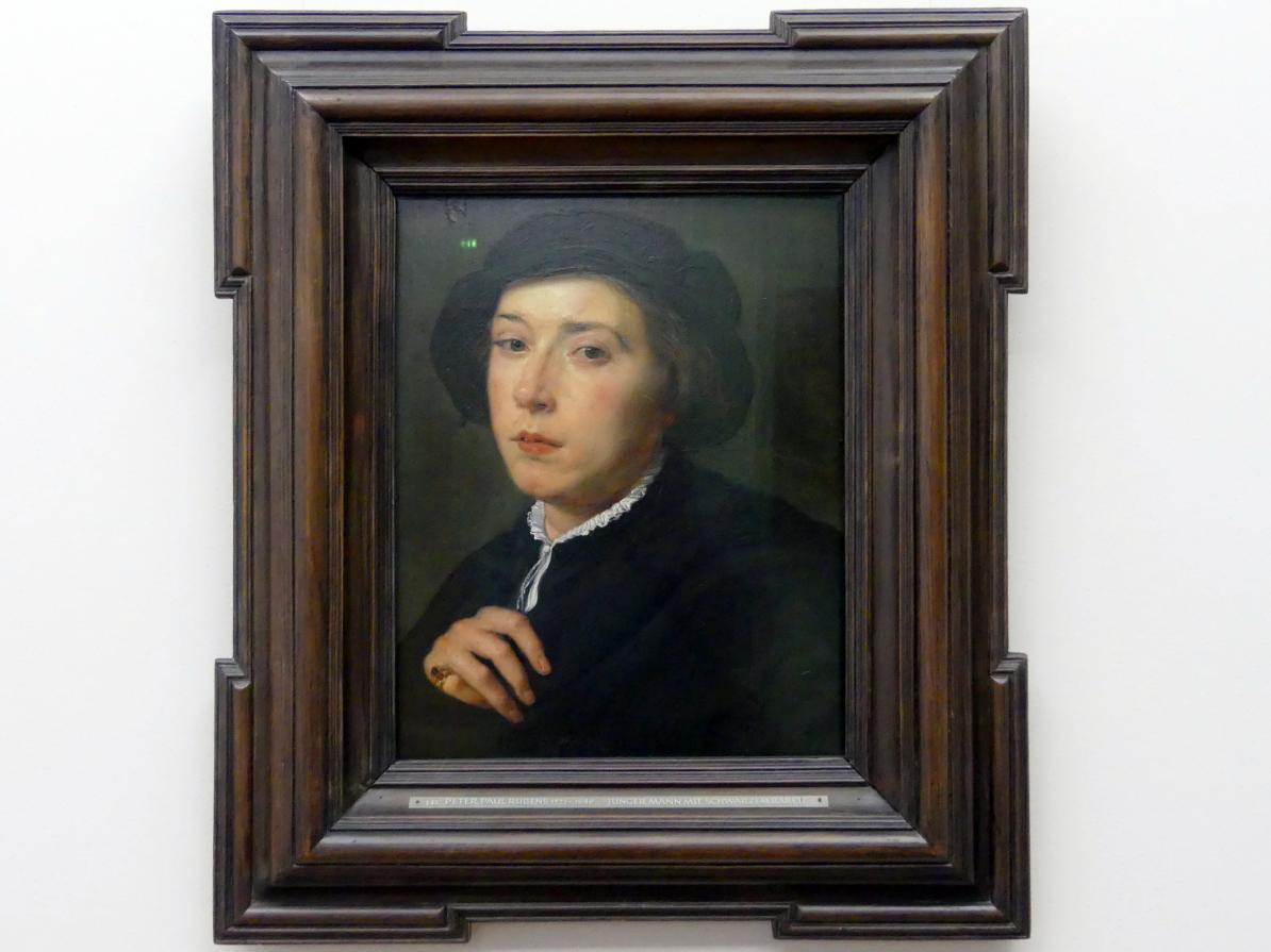 Peter Paul Rubens: Junger Mann mit schwarzem Barett, um 1620 - 1625