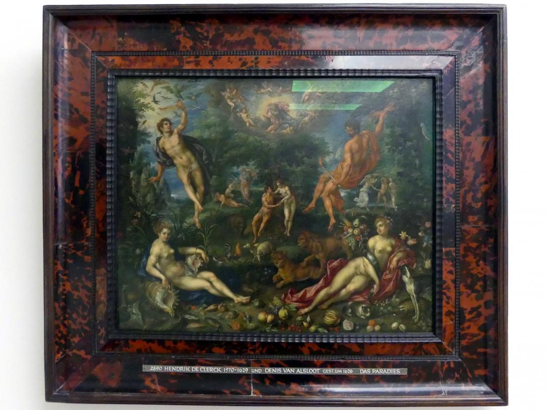 Hendrick de Clerck: Das Paradies mit den vier Elementen, Um 1608