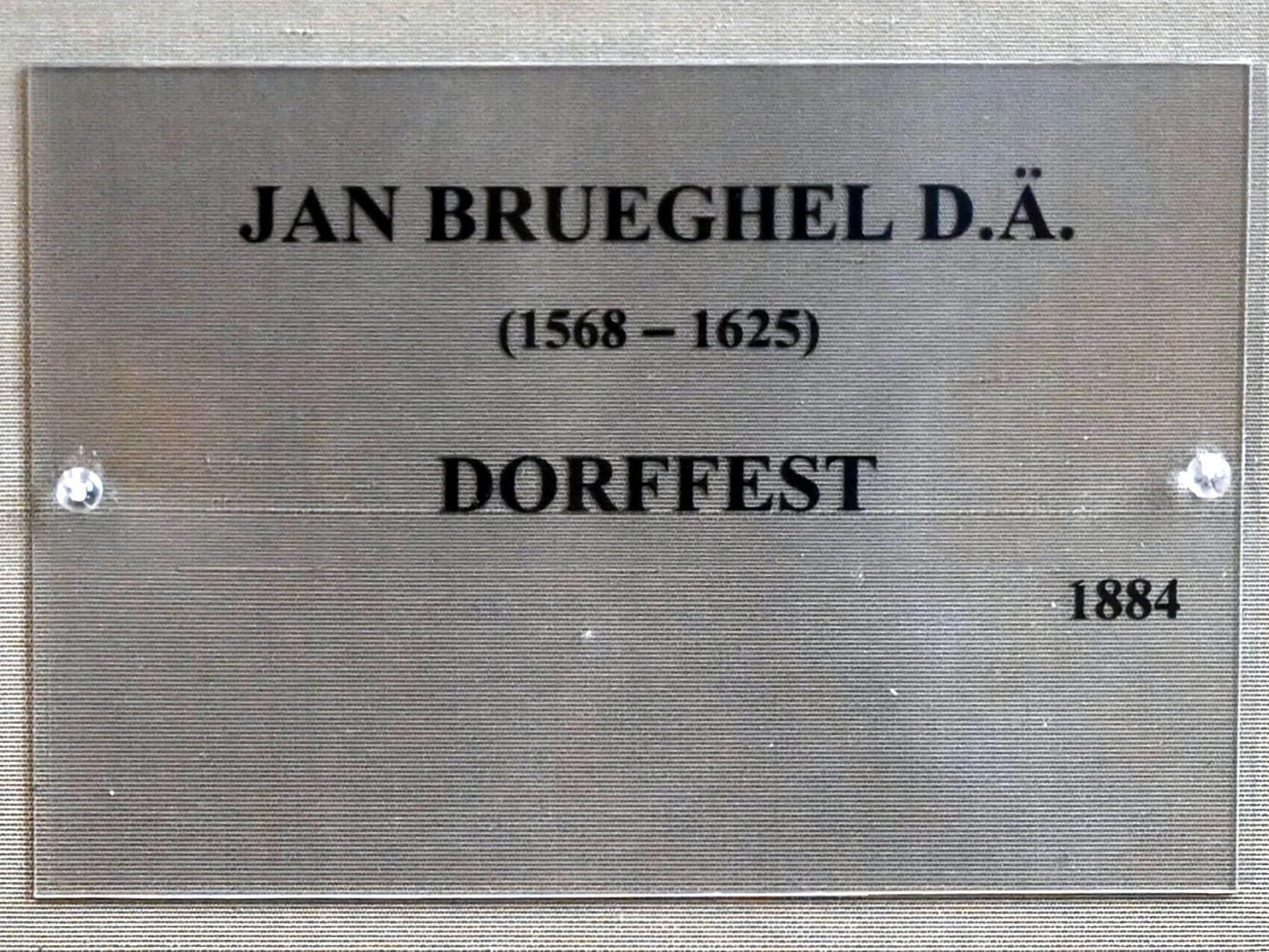 Jan Brueghel der Ältere (Blumenbrueghel): Dorffest, 1612, Bild 2/2