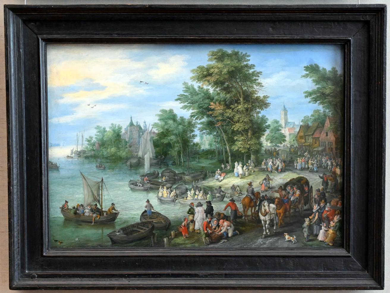 Jan Brueghel der Ältere (Blumenbrueghel): Landungsplatz, 1615