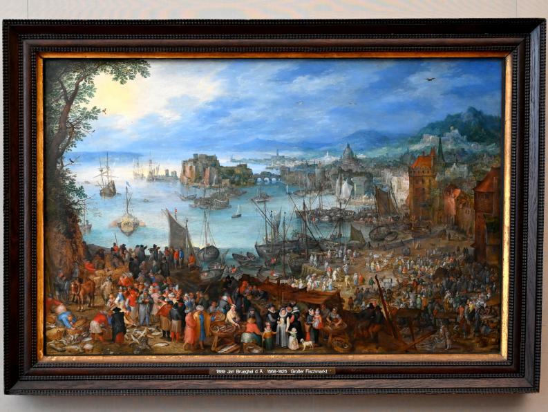 Jan Brueghel der Ältere (Blumenbrueghel): Großer Fischmarkt, 1603