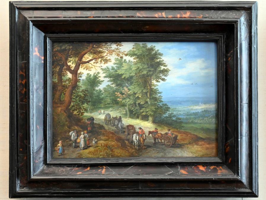 Jan Brueghel der Ältere (Blumenbrueghel): Landschaft mit Gepäckzug, 1610