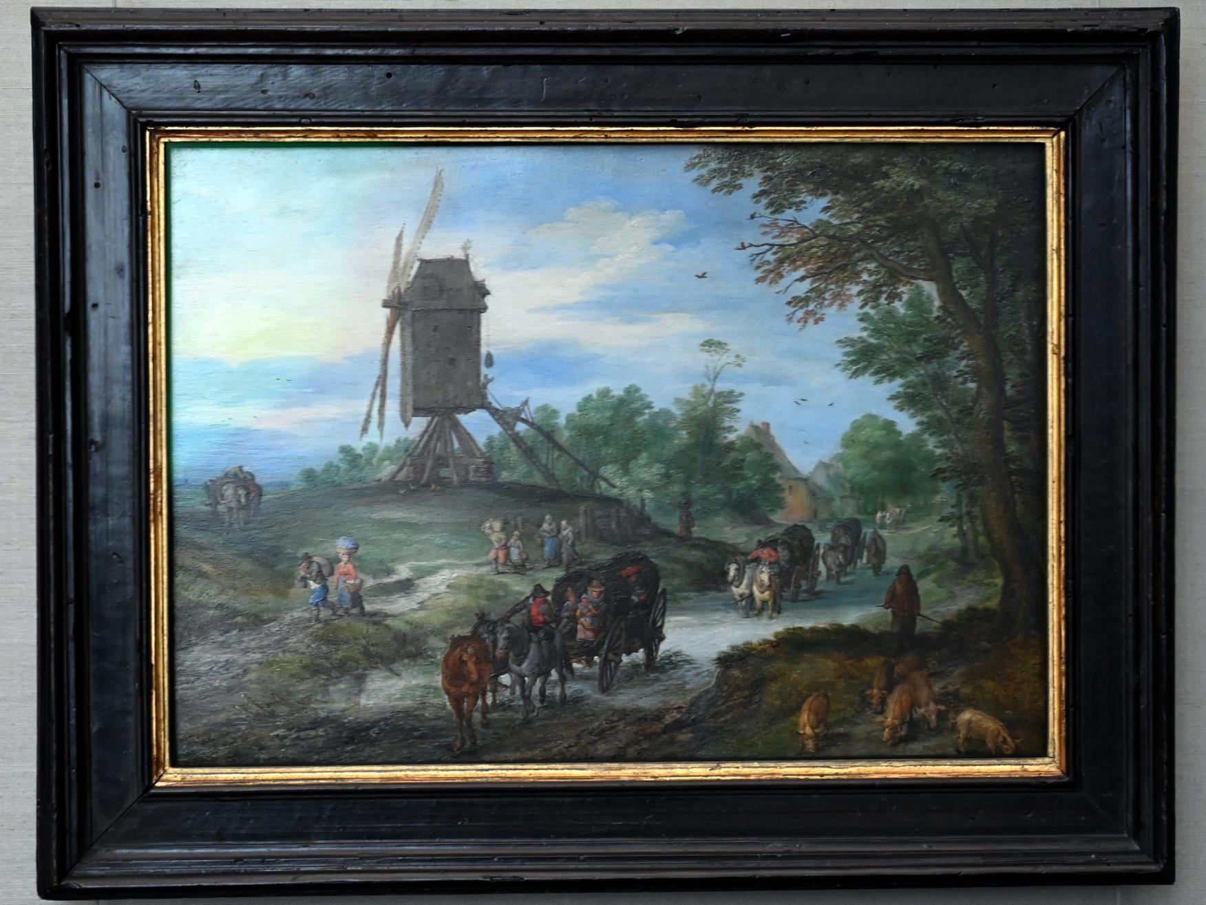 Jan Brueghel der Ältere (Blumenbrueghel): Überschwemmte Landstraße, 1614