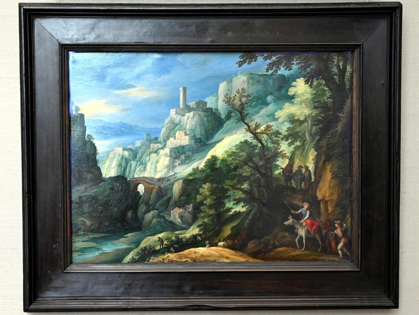 Paul Bril: Italienische Gebirgslandschaft mit dem Gang nach Emmaus, 1603 - 1605