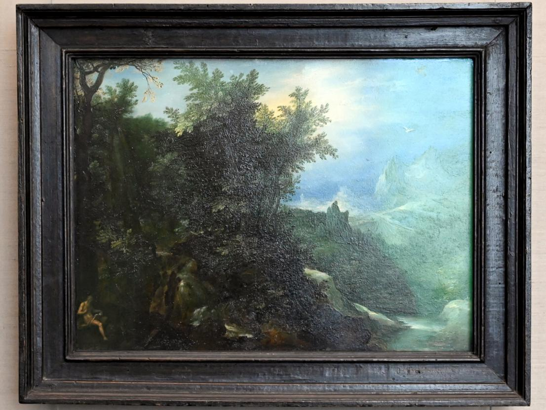 Jan Brueghel der Ältere (Blumenbrueghel): Waldlandschaft mit dem hl. Hieronymus, um 1597