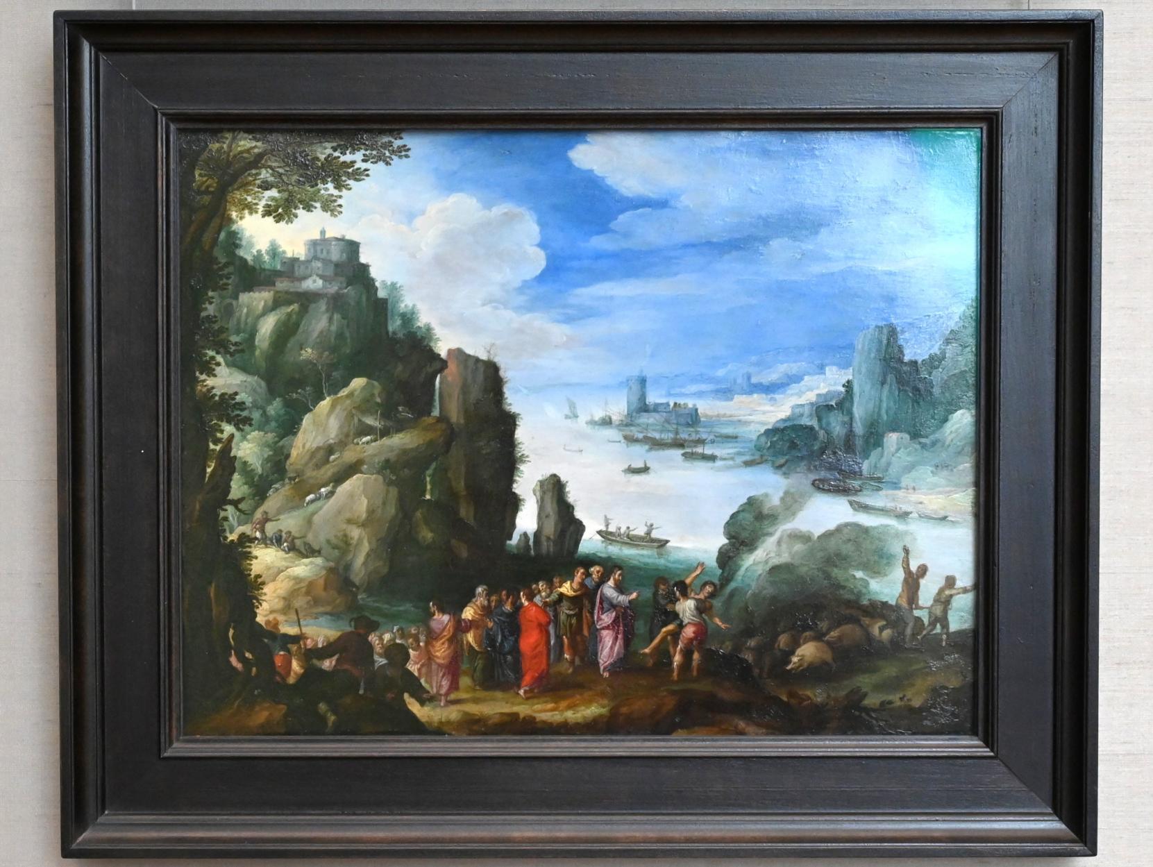 Paul Bril: Felsige Landschaft mit der Heilung des Besessenen, 1601