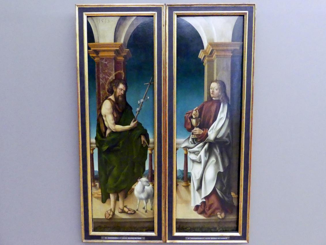 Hans Burgkmair der Ältere: Außenseiten der Flügel des Johannes-Altares, 1518