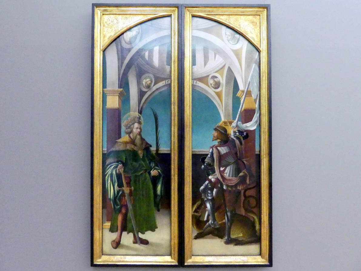 Hans Burgkmair der Ältere: Außenseiten der Flügel des Kreuzigungsaltars, 1519