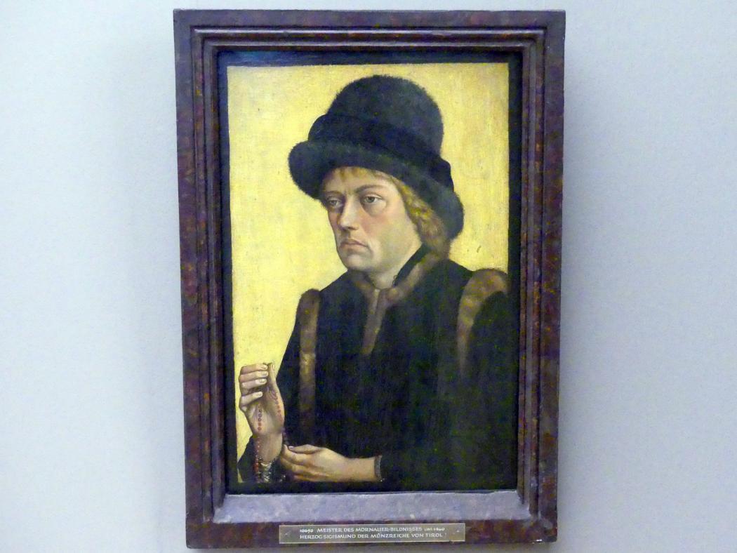 Meister des Mornauer-Bildnisses: Herzog Sigismund der Münzreiche von Tirol, Um 1460