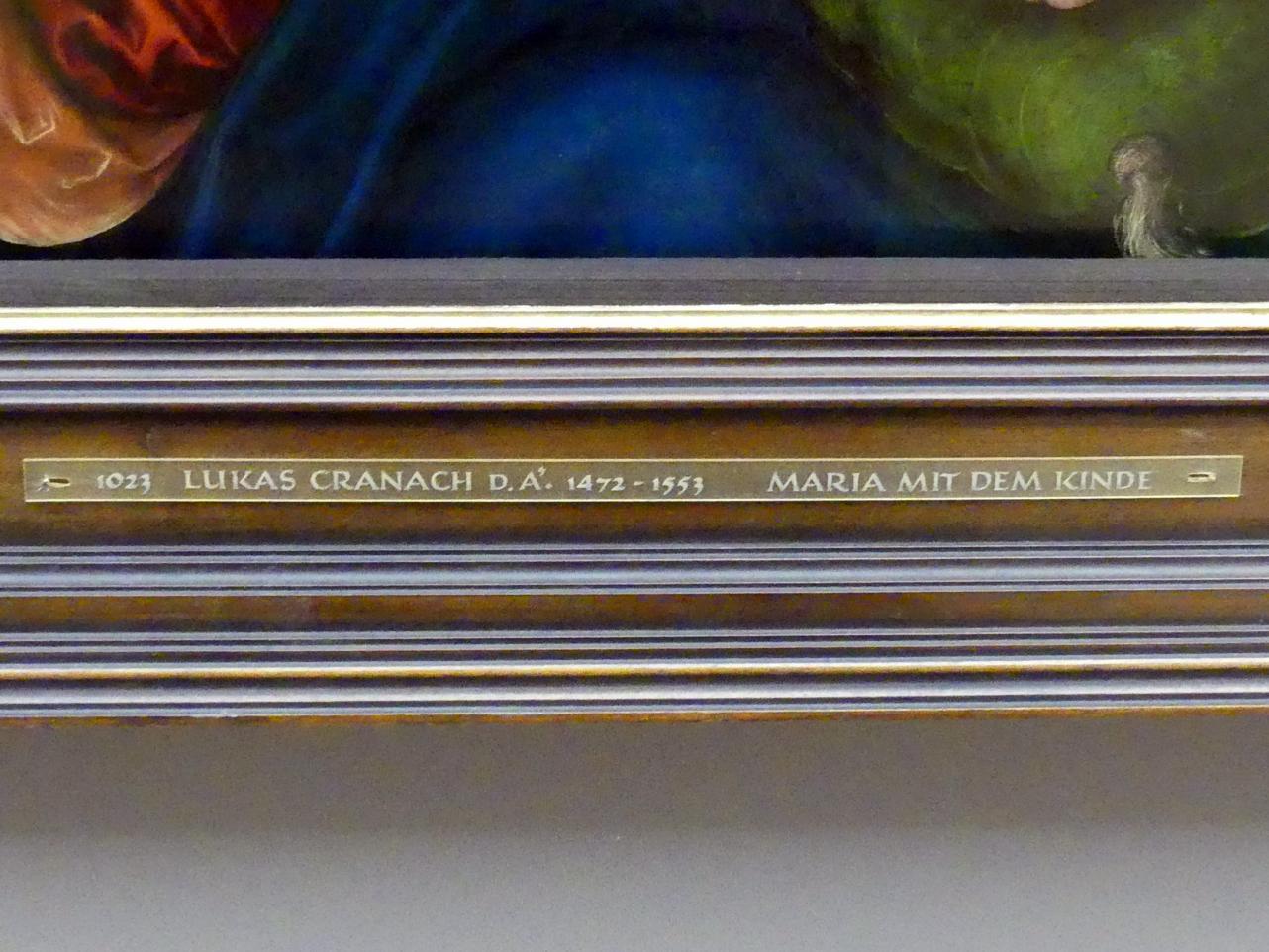 Lucas Cranach der Ältere: Maria mit dem Kinde und der Weintraube, Um 1525