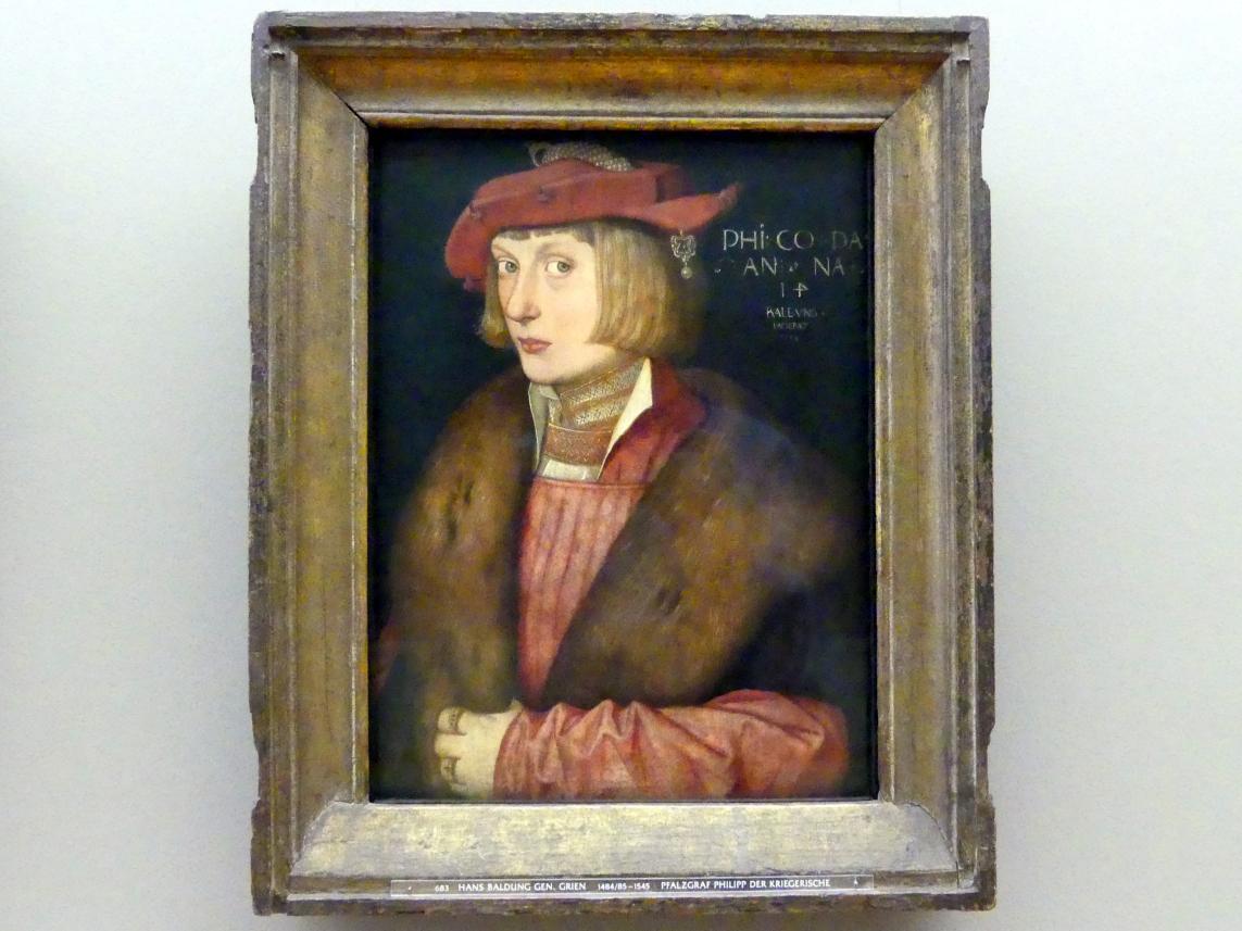 Hans Baldung Grien: Pfalzgraf Philipp der Kriegerische (1503-1548), 1517