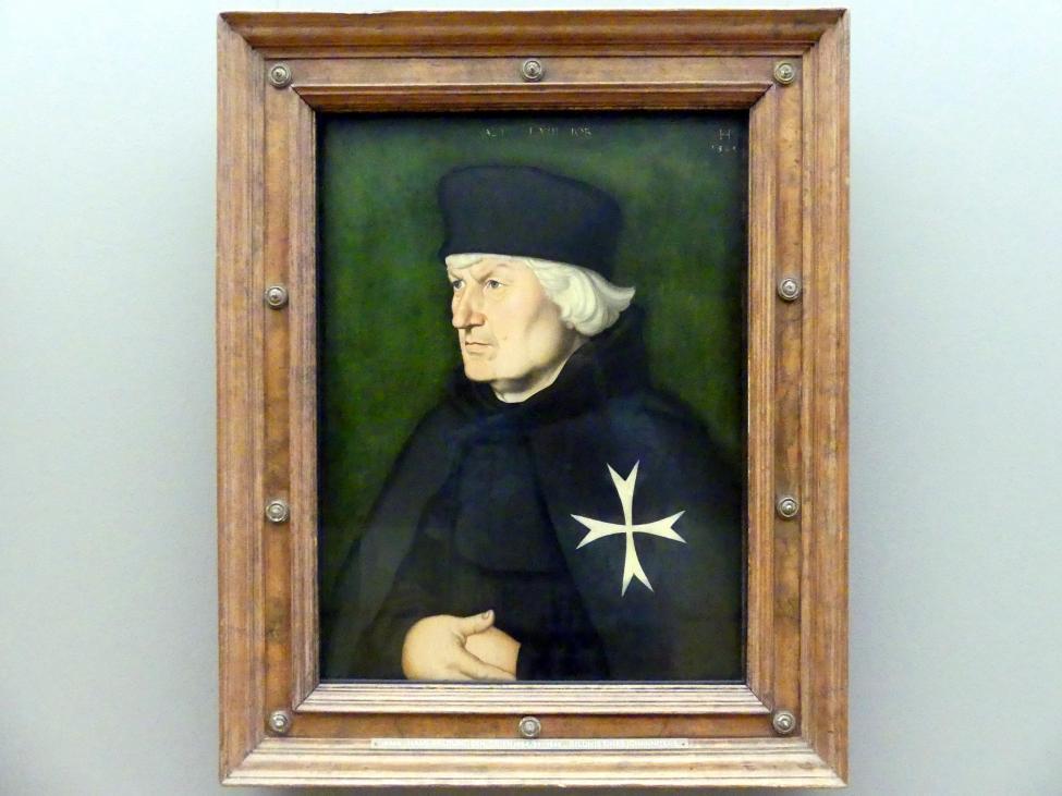 Hans Baldung Grien: Bildnis des Straßburger Johanniterkomturs Balthasar Gerhardi, 1528