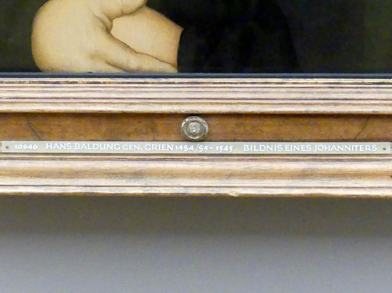 Hans Baldung Grien: Bildnis des Straßburger Johanniterkomturs Balthasar Gerhardi, 1528, Bild 2/2