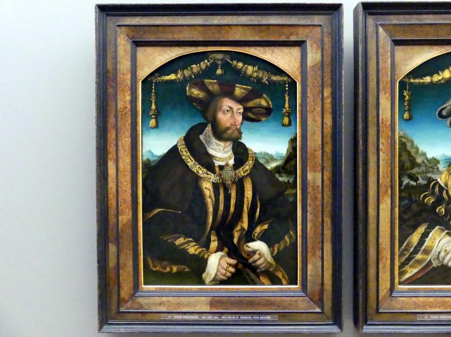 Hans Wertinger: Wilhelm IV. Herzog von Bayern, 1526