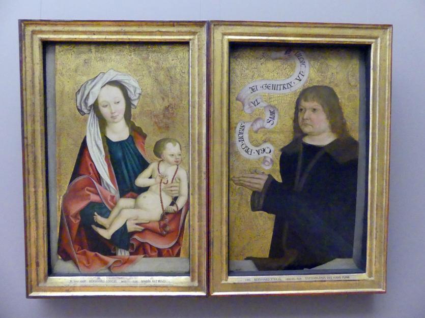Bernhard Strigel: Maria mit Kind, um 1490 - 1500