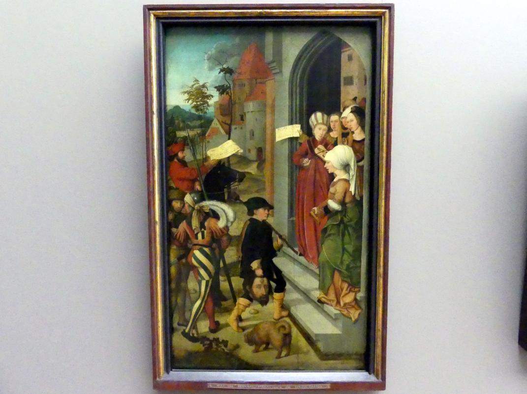 Bernhard Strigel: Rückkehr Davids mit dem Haupt des Goliath, Um 1500