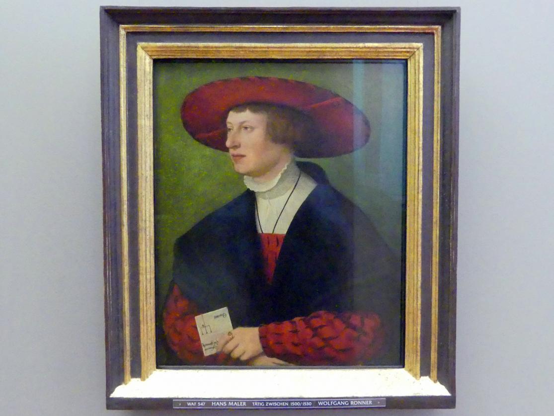Hans Maler zu Schwaz: Bildnis des Wolfgang Ronner, 1529