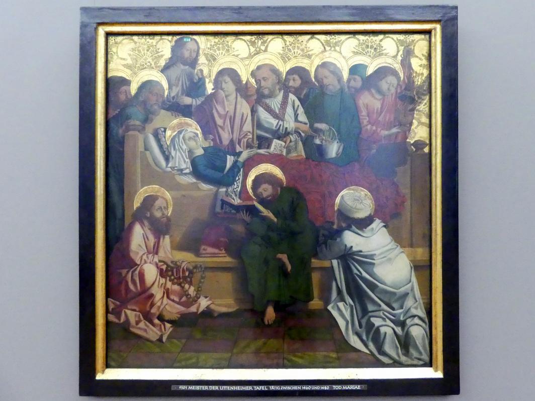 Meister von Uttenheim: Tod Mariae, Um 1470 - 1480