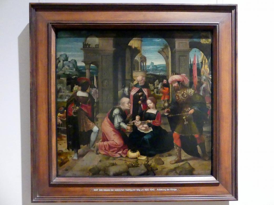 Meister der weiblichen Halbfiguren: Anbetung der Könige, um 1520 - 1540