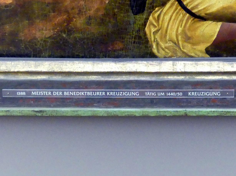Meister der Benediktbeurer Kreuzigung: Kreuzigung Christi, um 1455