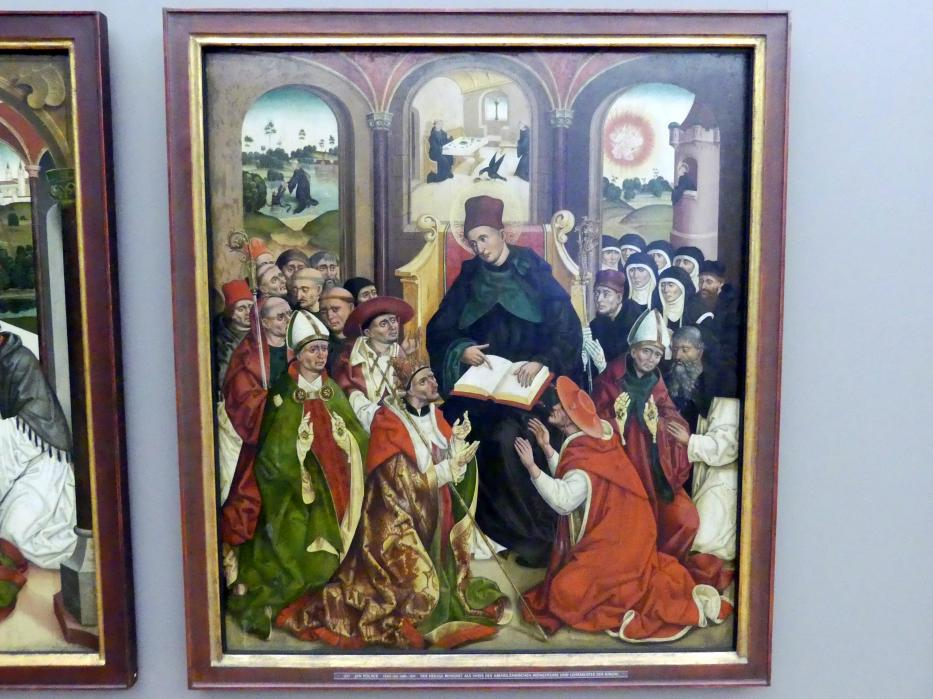 Jan Polack: Weihenstephaner Altar: Der hl. Benedikt als Vater des abendländischen Mönchtums, Um 1483 - 1489