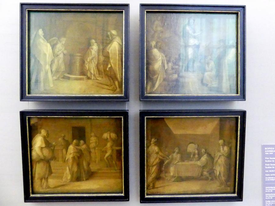 Andrea del Sarto (Kopie): Vier Szenen aus de Cjiostro dello Scalzo in Florenz, Vor 1626
