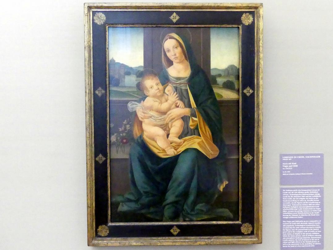 Lorenzo di Credi: Maria mit Kind, um 1515 - 1525