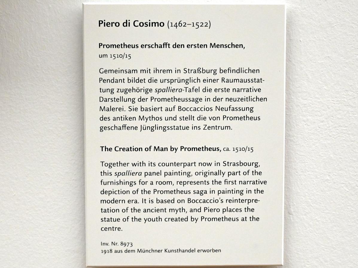 Piero di Cosimo: Prometheus erschafft den ersten Menschen, Um 1510 - 1515