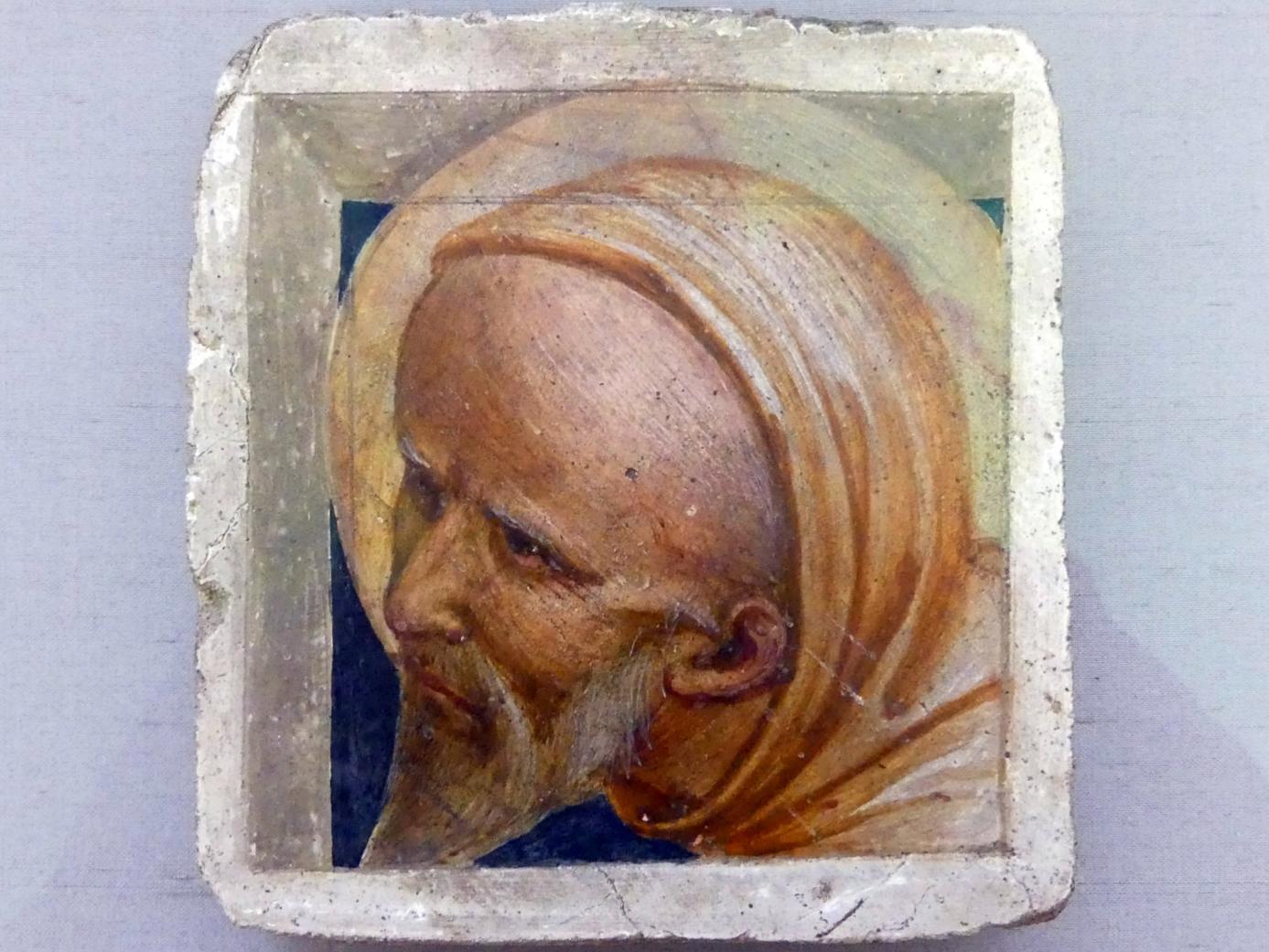 Fra Angelico (Werkstatt): Kopf eines hl. Mönchs, um 1445 - 1455