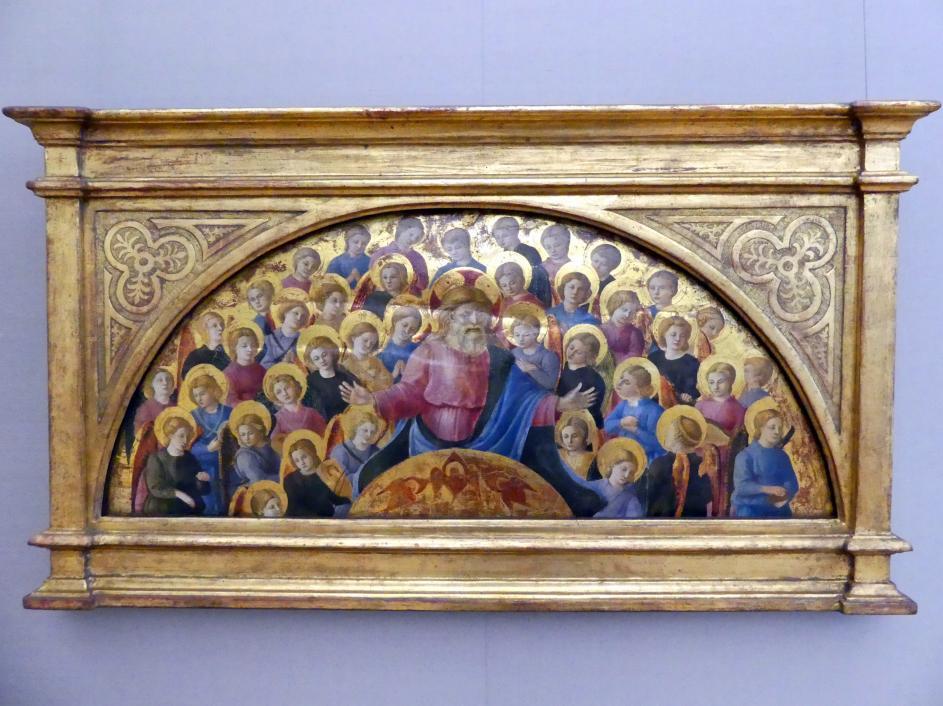 Meister der Geburt von Castello: Gott-Vater mit Engelsglorie, Um 1460 - 1462