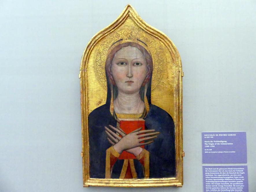Niccolò di Pietro Gerini: Maria der Verkündigung, um 1380 - 1390