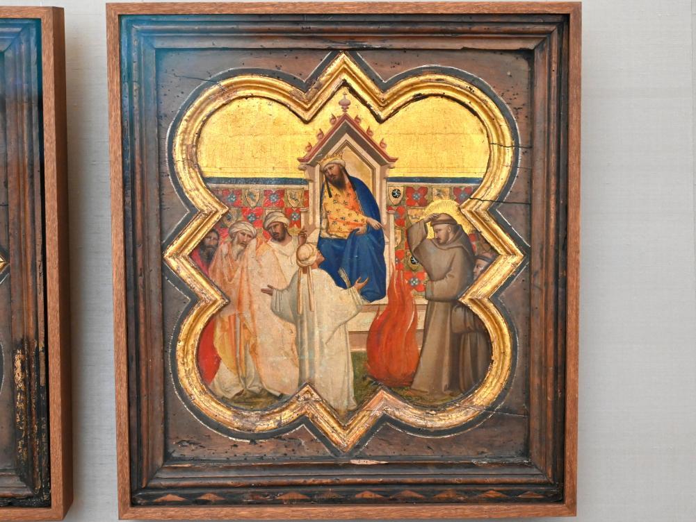 Taddeo Gaddi: Zwei Tafeln einer Sakristeibank aus S. Croce in Florenz, Um 1335 - 1340