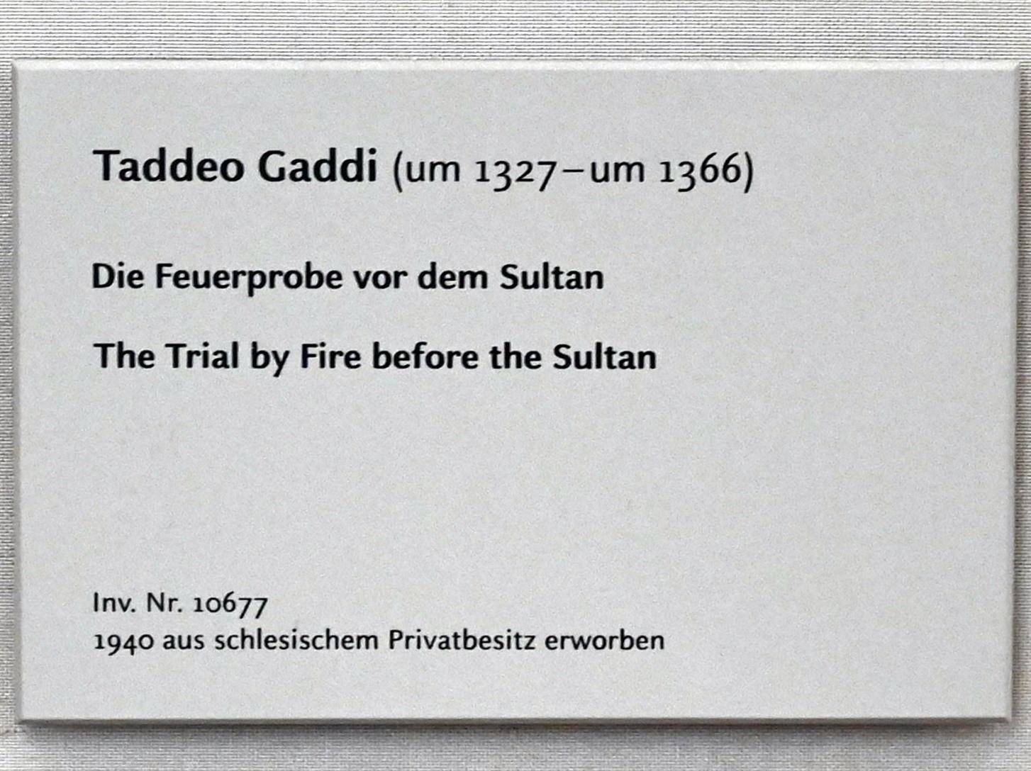 Taddeo Gaddi: Zwei Tafeln einer Sakristeibank aus S. Croce in Florenz, um 1335 - 1340, Bild 2/2