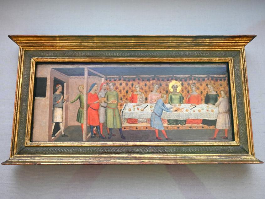 Bernardo Daddi: Hochzeitsmahl der hl. Cäcilia, Um 1333 - 1335