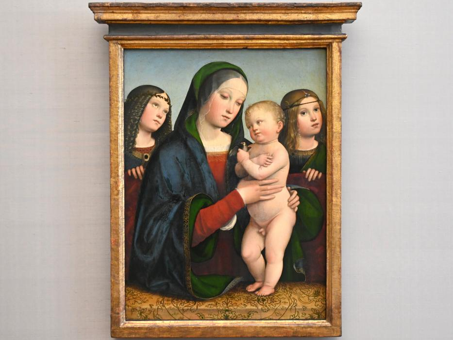 Francesco Francia (Raibolini): Maria mit dem Kinde und zwei Engeln, um 1495