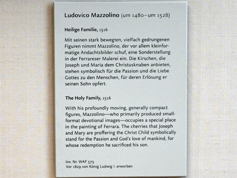 Ludovico Mazzolino: Die hl. Familie in einer Landschaft, 1516