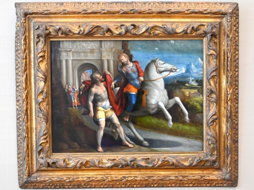 Benvenuto Tisi Garofalo: Die Mantelteilung des hl. Martin, Um 1517 - 1520