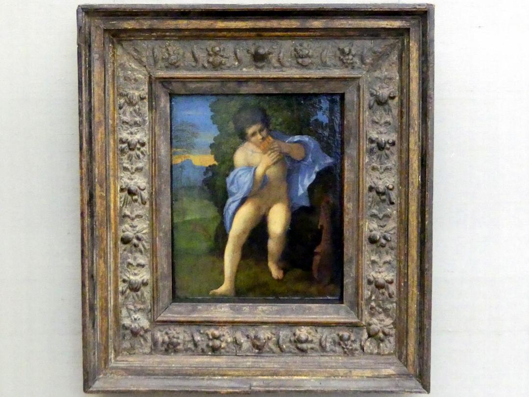 Jacopo Palma il Vecchio (Jacomo Nigretti de Lavalle): Junger Faun bläst auf der Syrinx, Um 1513 - 1515
