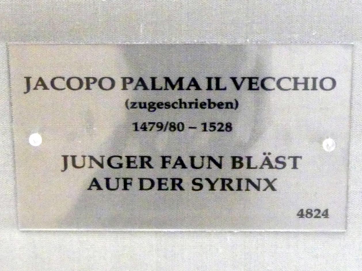 Jacopo Palma il Vecchio (Jacomo Nigretti de Lavalle): Junger Faun bläst auf der Syrinx, um 1513 - 1515, Bild 2/2