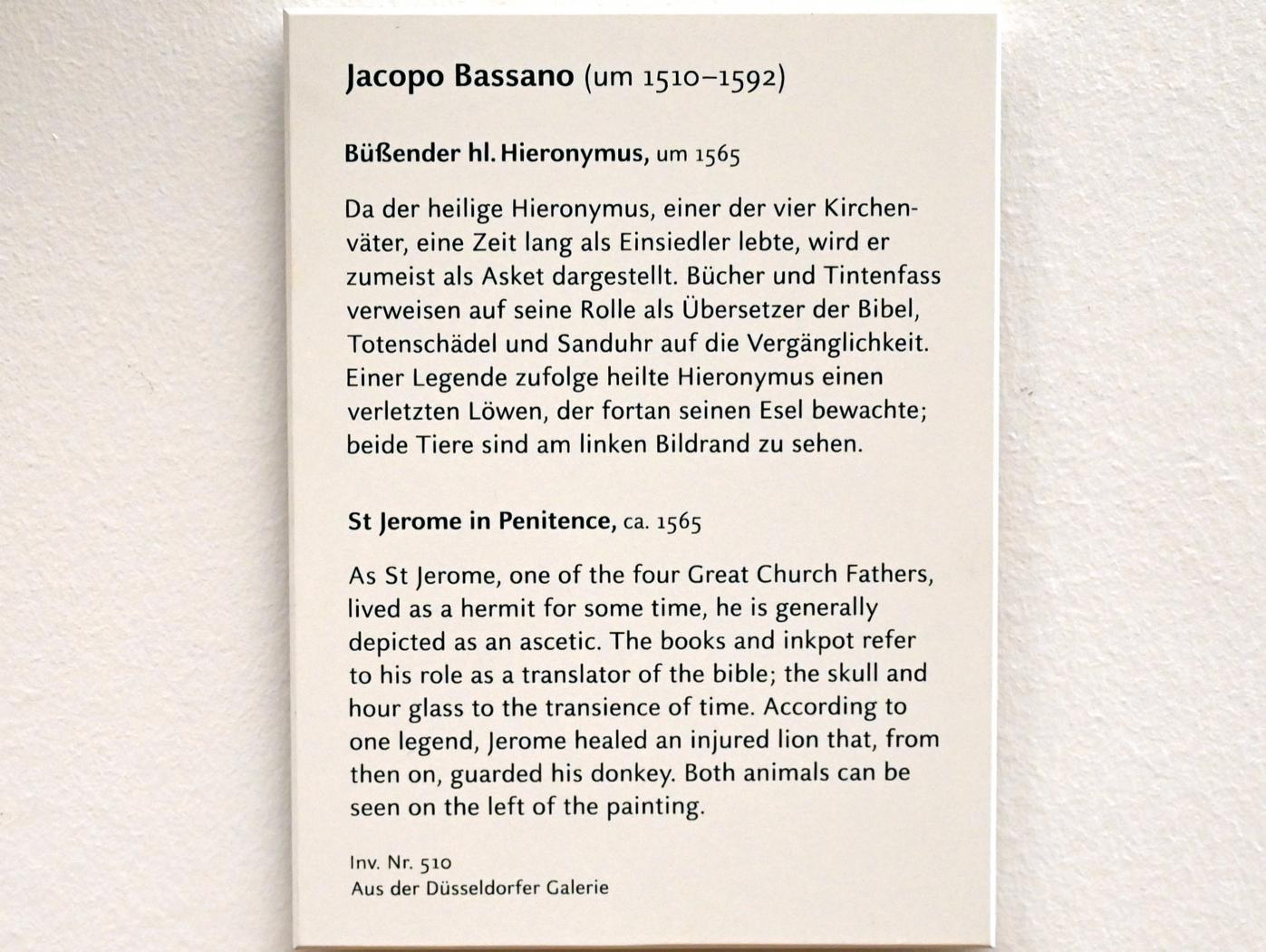 Jacopo Bassano (da Ponte): Der büßende hl. Hieronymus, Um 1565