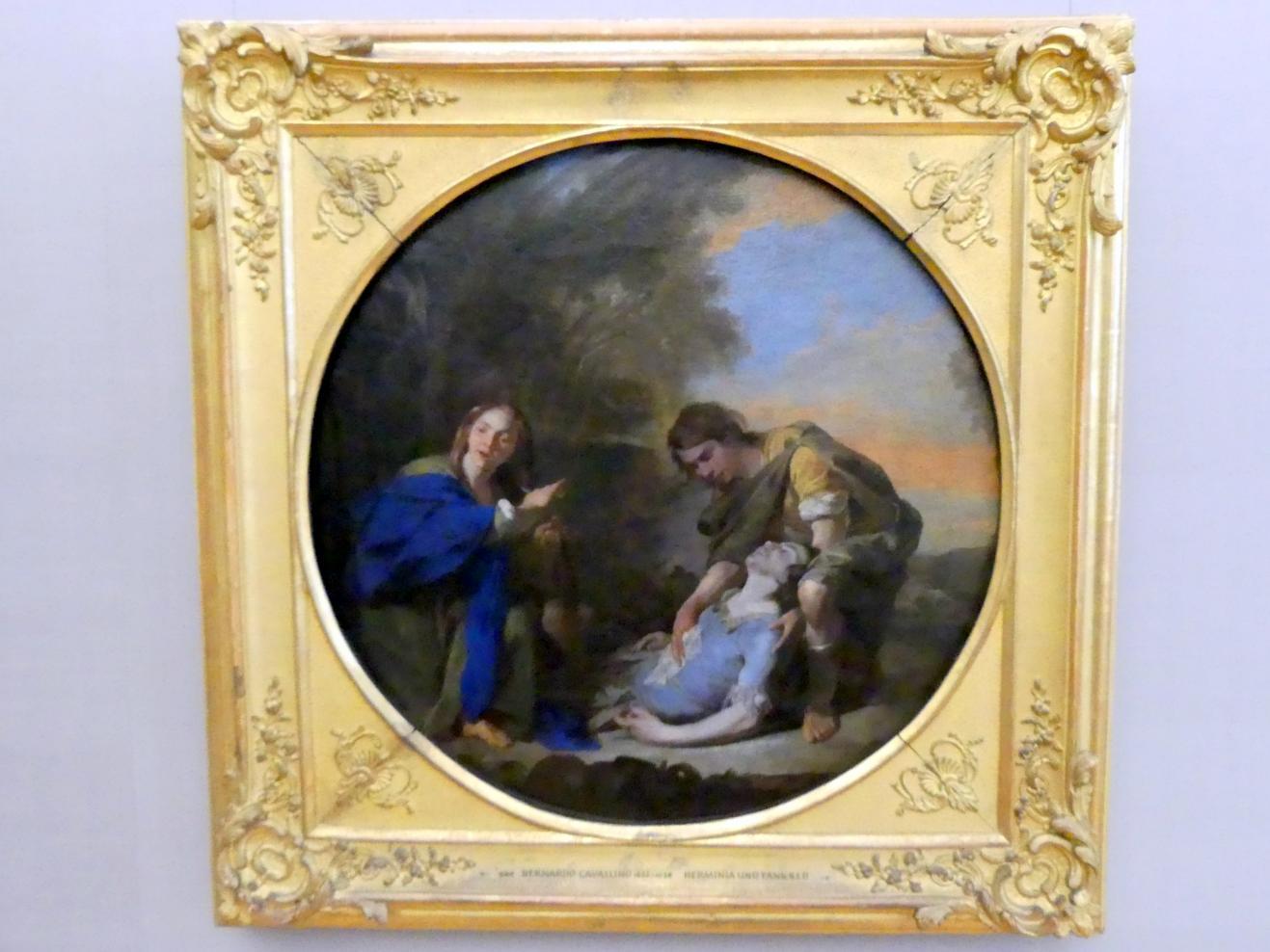 Bernardo Cavallino: Erminia und der verwundete Tancred, um 1650