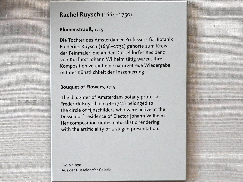 Rachel Ruysch: Blumenstrauß, 1715, Bild 2/2