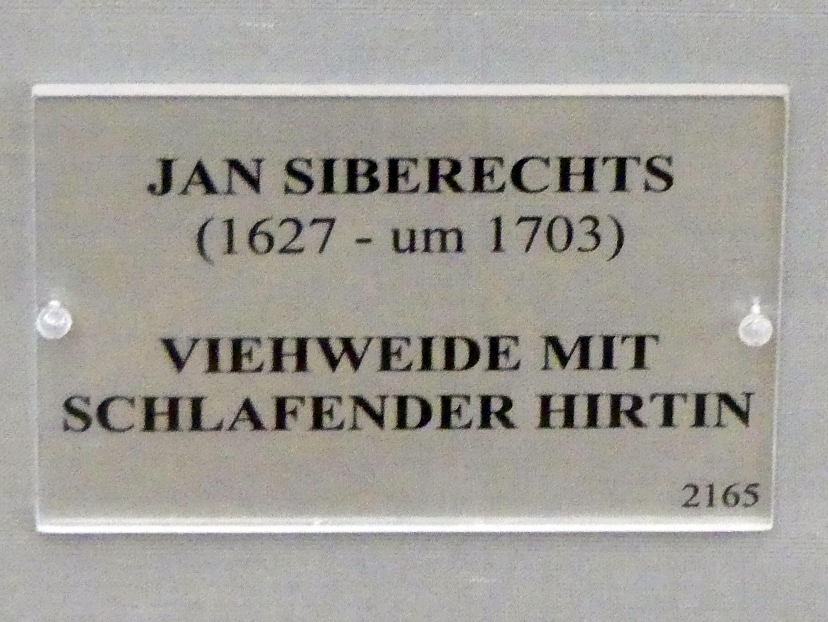 Jan Siberechts: Viehweide mit schlafender Hirtin, nach 1650, Bild 2/2